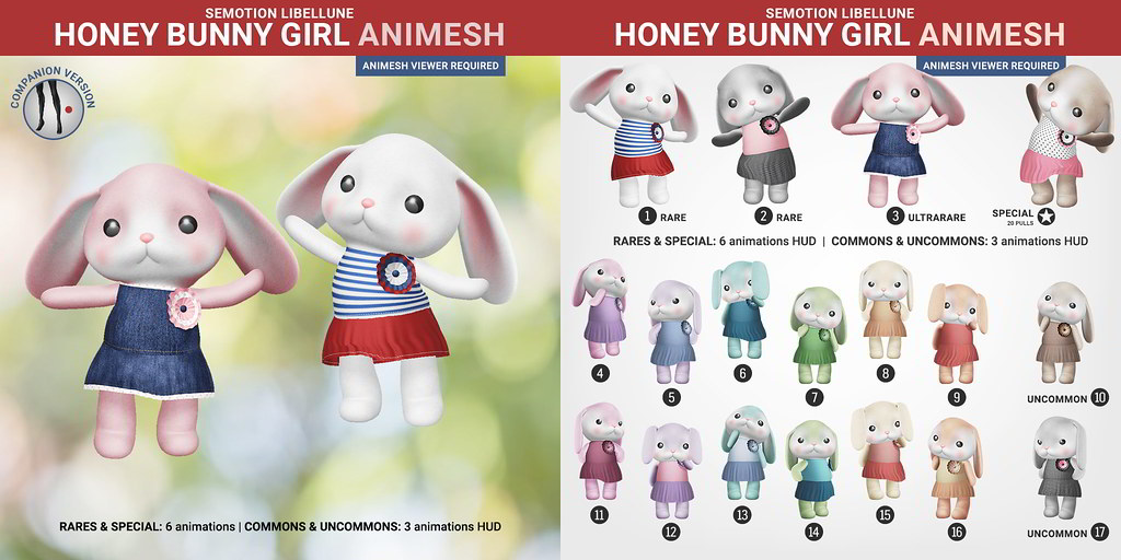 SEmotion Libellune Honey Bunny Girl Animesh