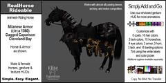 E-AnimeshRealHorseRideable-ClevelandBay-MilaneseArmor-Dagged