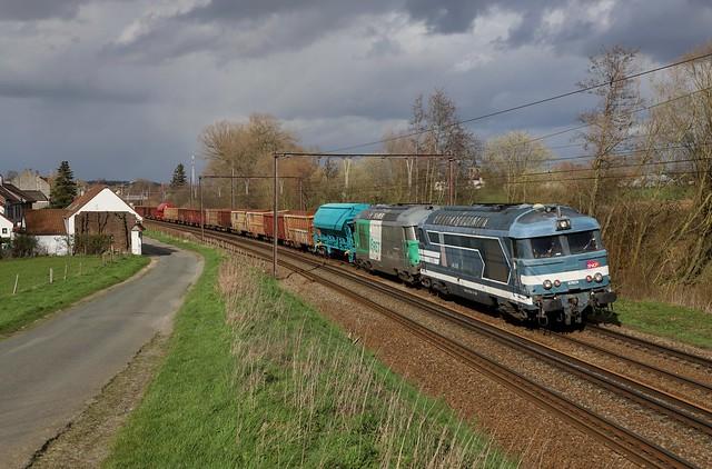 SNCF 67629 + 67579 - Hennuyéres - 12/03/2020.