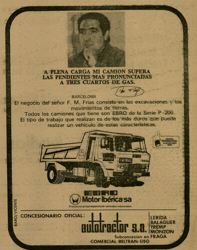 Ebro P200 Autotractor concessionari Lleida