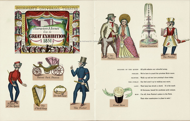 "Guinness ""Album Victorianum"" publicity booklet, 1951 - Scenes from the Great Exhibition 1851 illustrated by Eric Fraser"