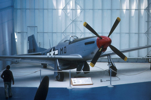 North American P-51D Mustang at the Musée de l' Air, Le Bourget 1975