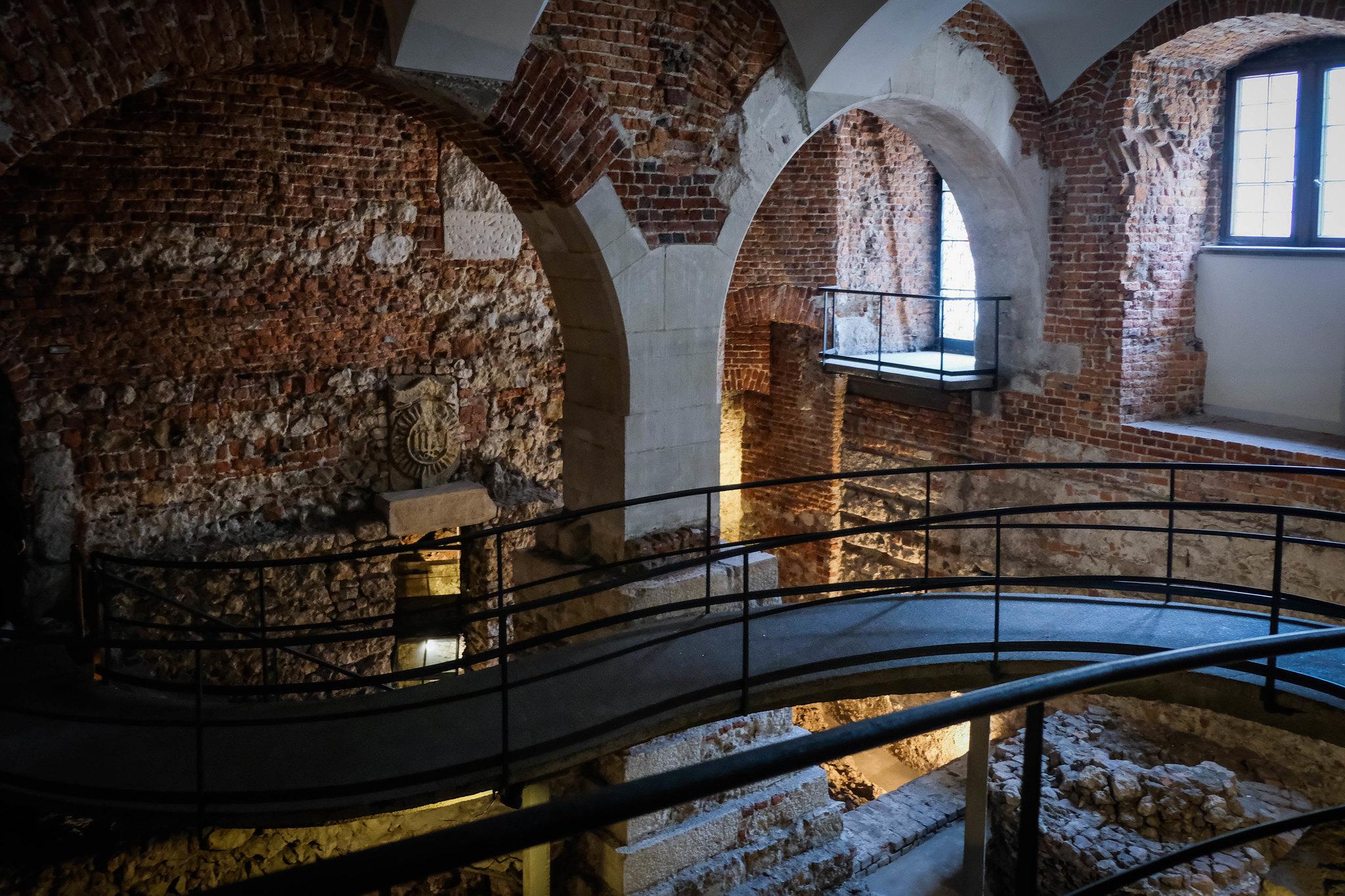 Underneath Wawel Castle