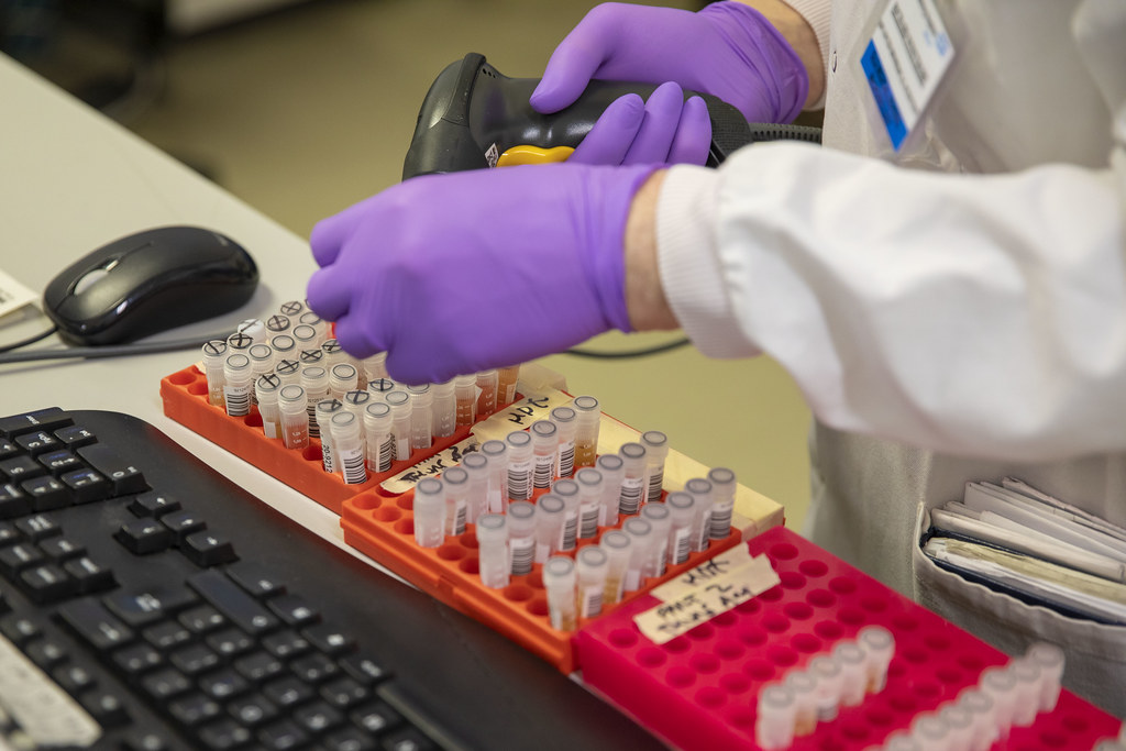 The Chancellor Rishi Sunak visits a coronavirus testing laboratory in Leeds