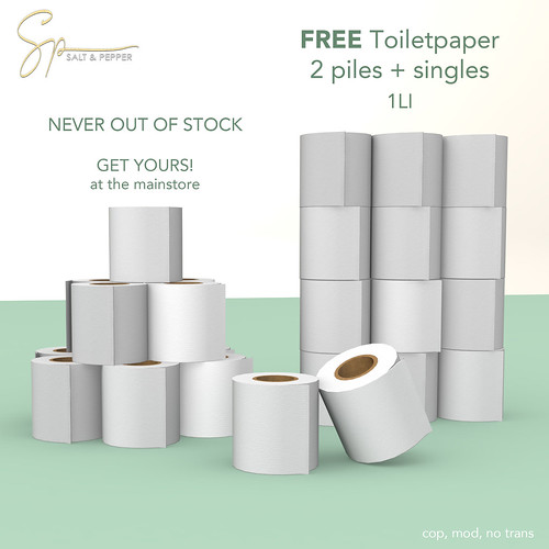 FREE Toiletpaper - NEVER OUT OF STOCK