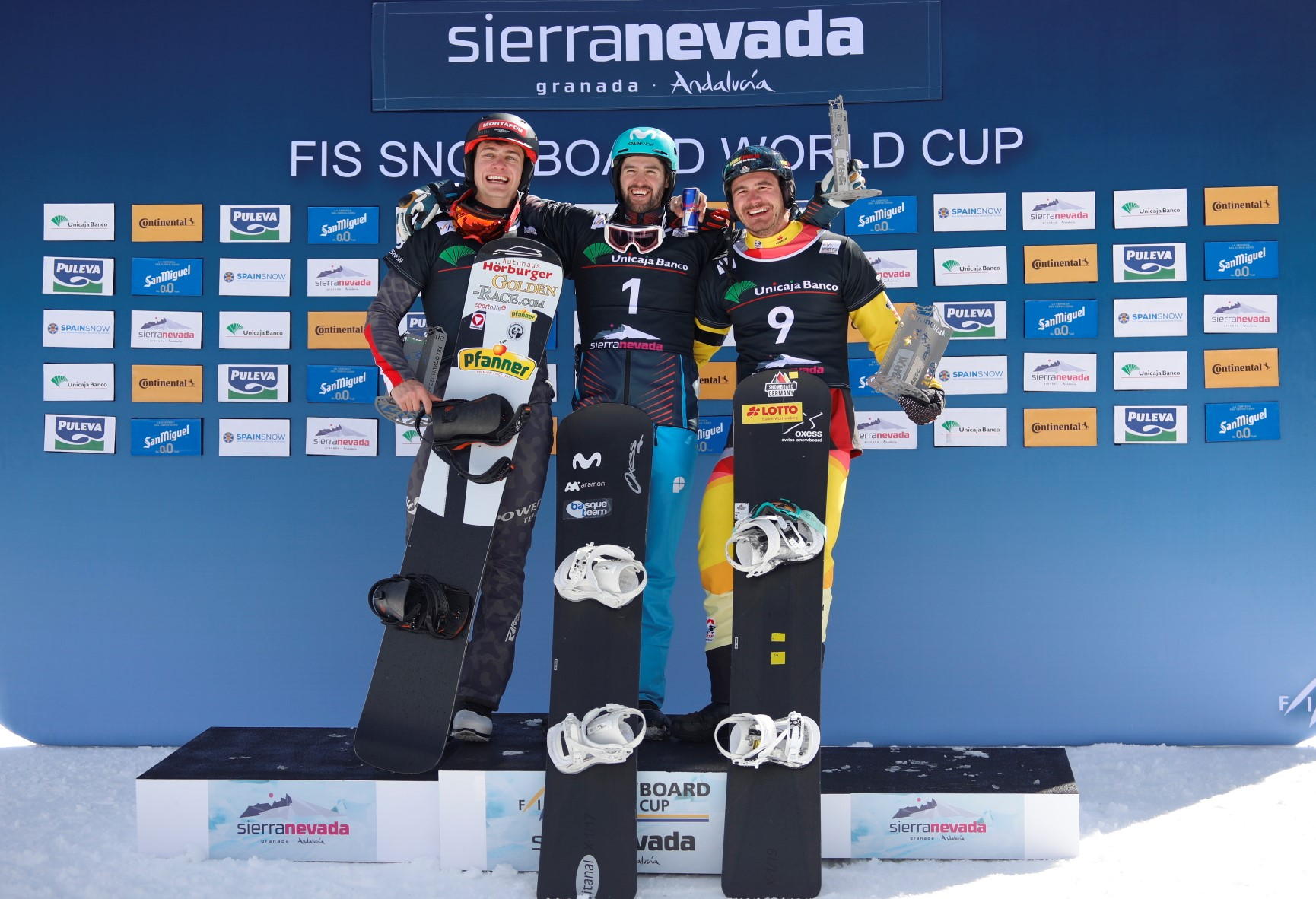 Lucas Eguibar en el podio
