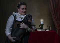 Baroness Orsolya Zay with her dog