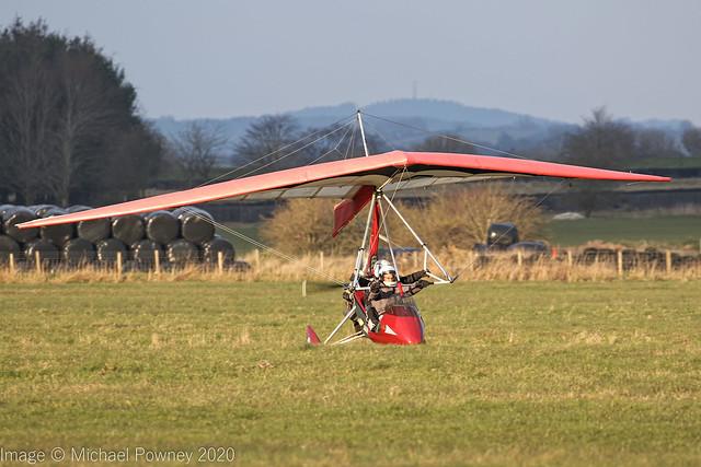 G-CCDZ - 2003 build Mainair Sports Pegasus Quantum 912, touching down at Darley Moor