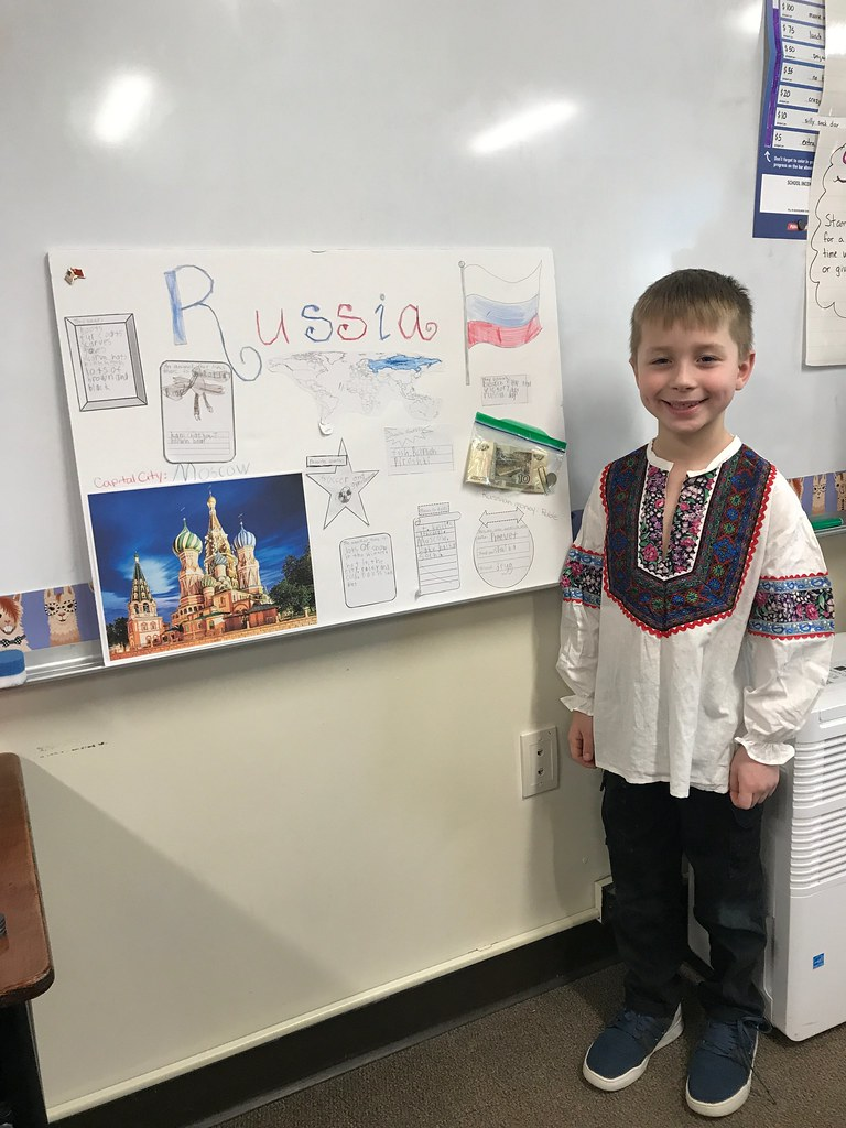 Ms Prescott class presenting their country projects
