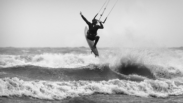 Another day @ the sea - Jurgen 1 B&W