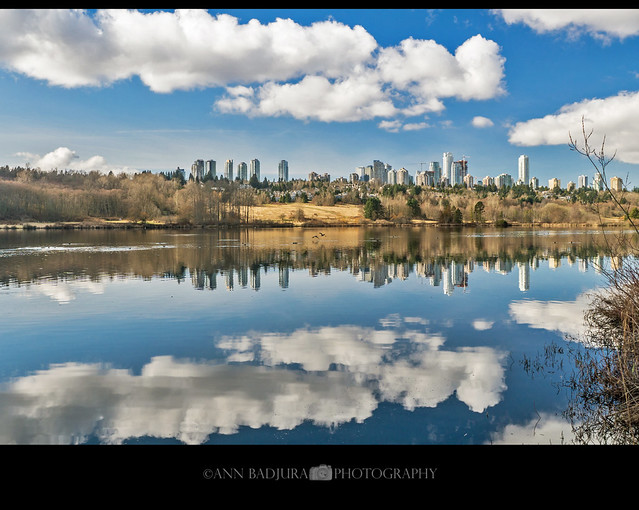 Deer Lake in Burnaby near Vancouver, BC, Canada