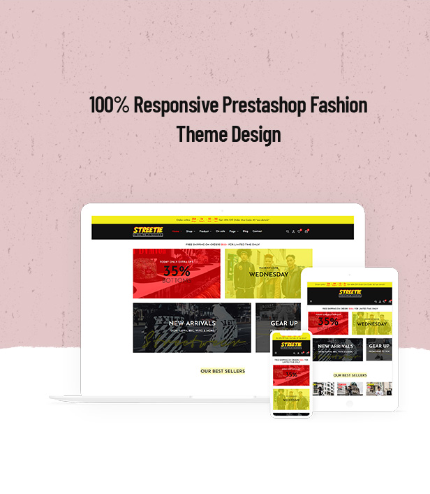 Streetie Prestashop Street Style Fashion Theme for Clothing