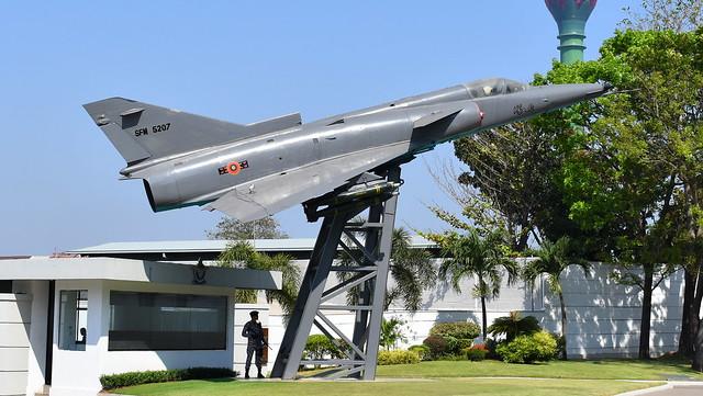 Israel Aircraft Industries Kfir C2 c/n 142 Sri Lanka Air Force serial SFM5207 preserved outside the Sri Lanka Air Force HQ in Colombo