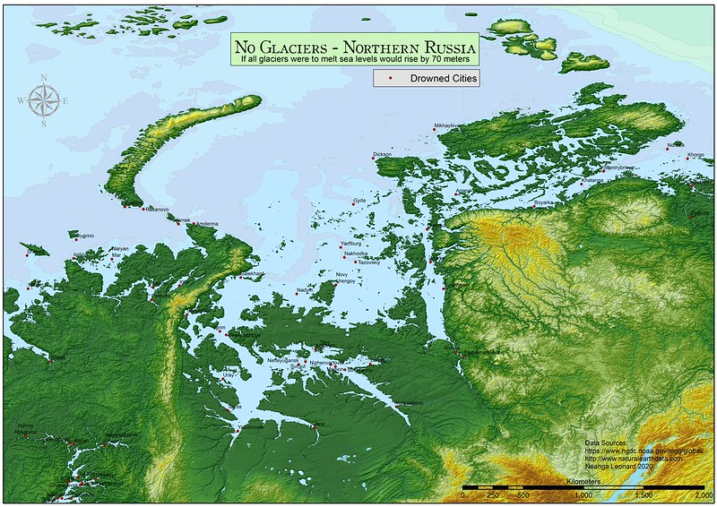 Northern Russia without ice