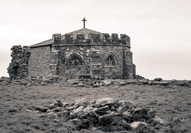 Ruined Abbey, Lancashire, England UK.