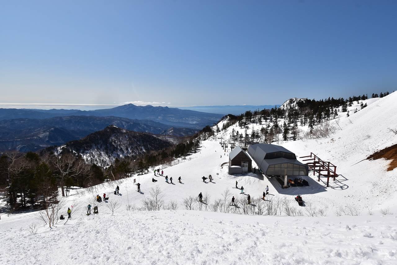 川場スキー場リフトトップから登山開始