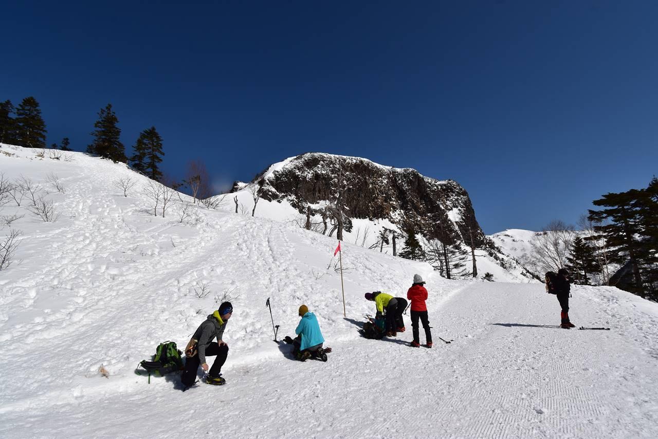 川場スキー場リフトトップ・武尊山登山口