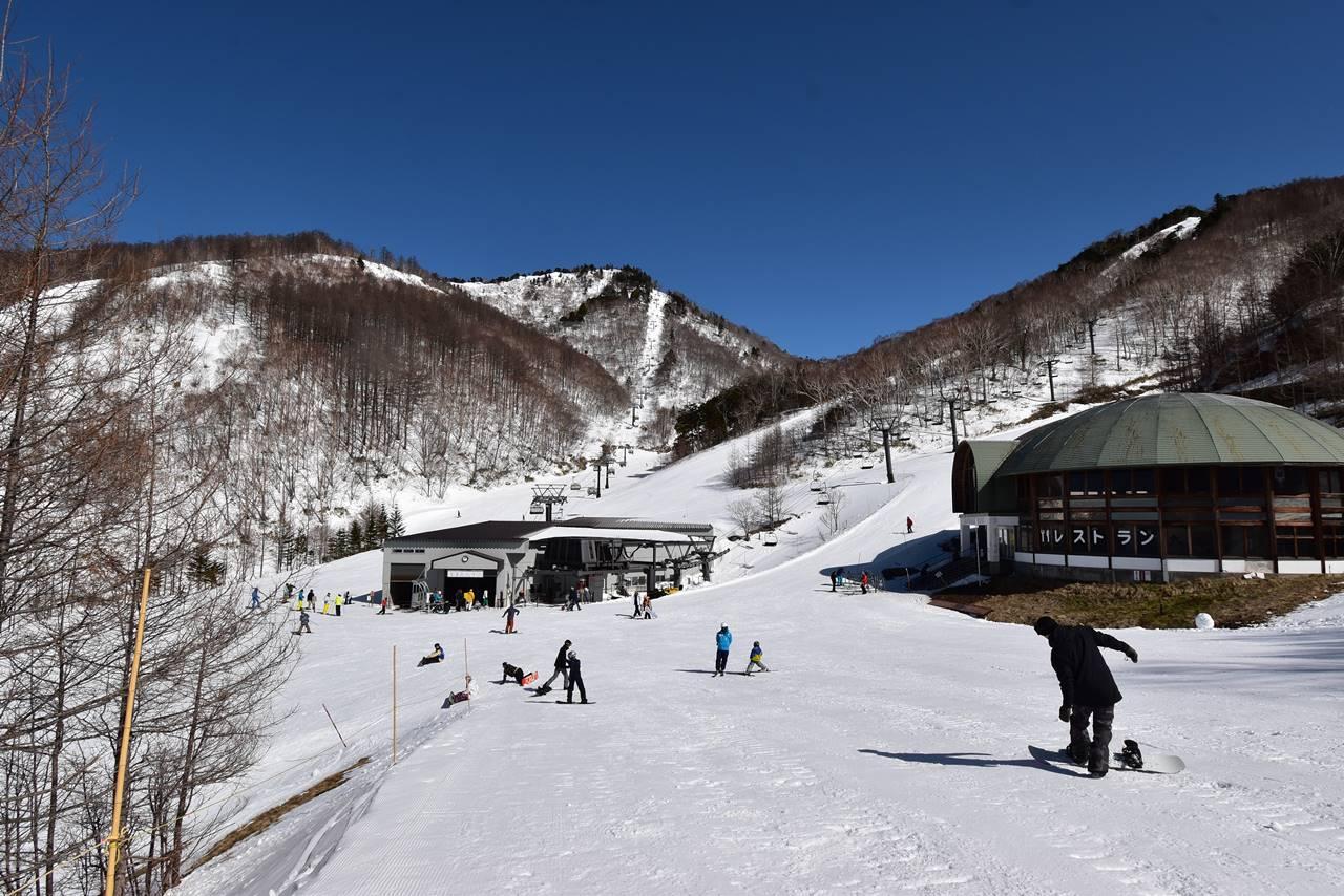 川場スキー場のゲレンデ