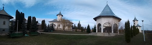 gorovei romania motorola architecture panorama trees church bench grass clouds sky hermitage monastery