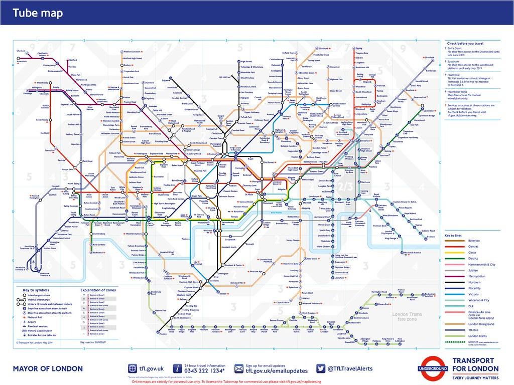 倫敦地鐵圖tube