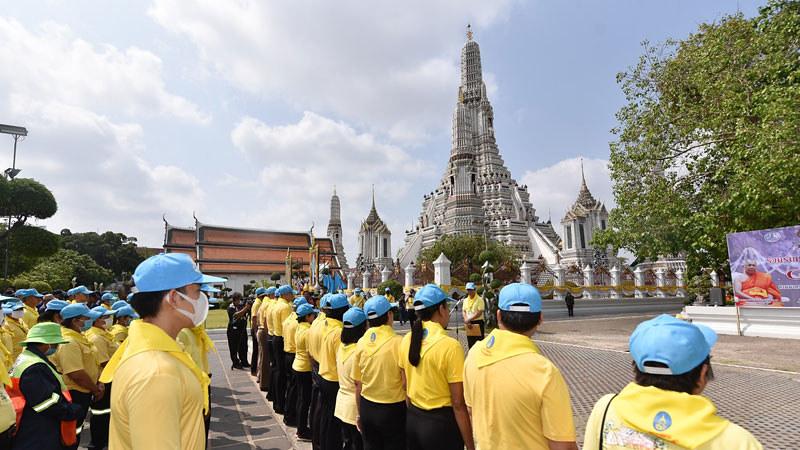 Wabah Corona,Vihara-Vihara Terkemuka Thailand Disemprot Disinfektan