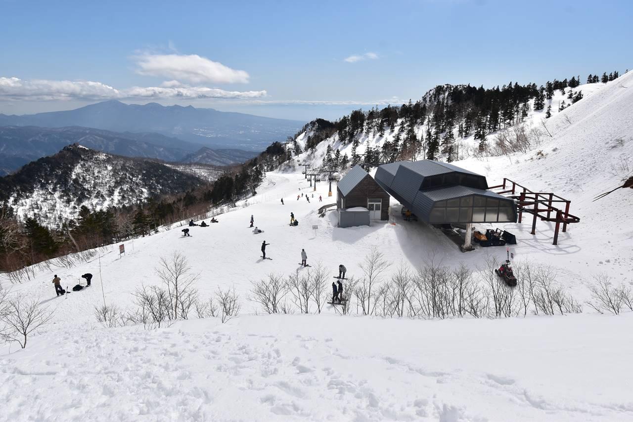 川場スキー場に下山完了
