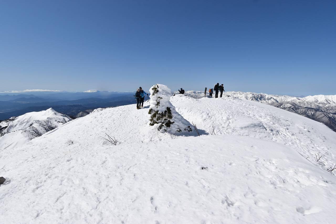冬の上州武尊山山頂