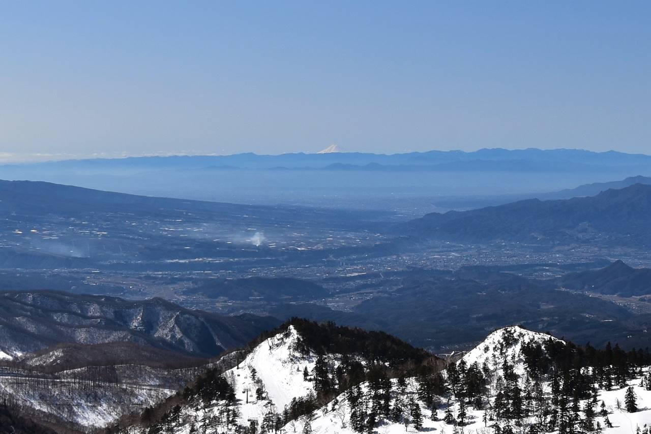 川場スキー場から見えた富士山