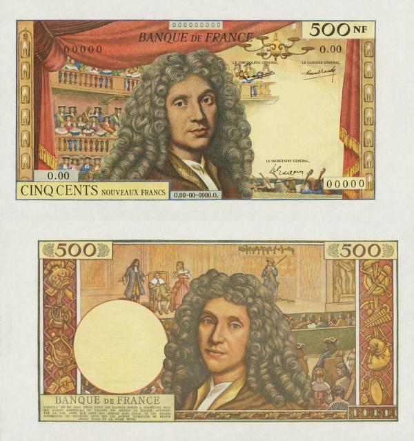 500 Nouveaux Francs  Francúzsko 1959-65  - REPLIKA