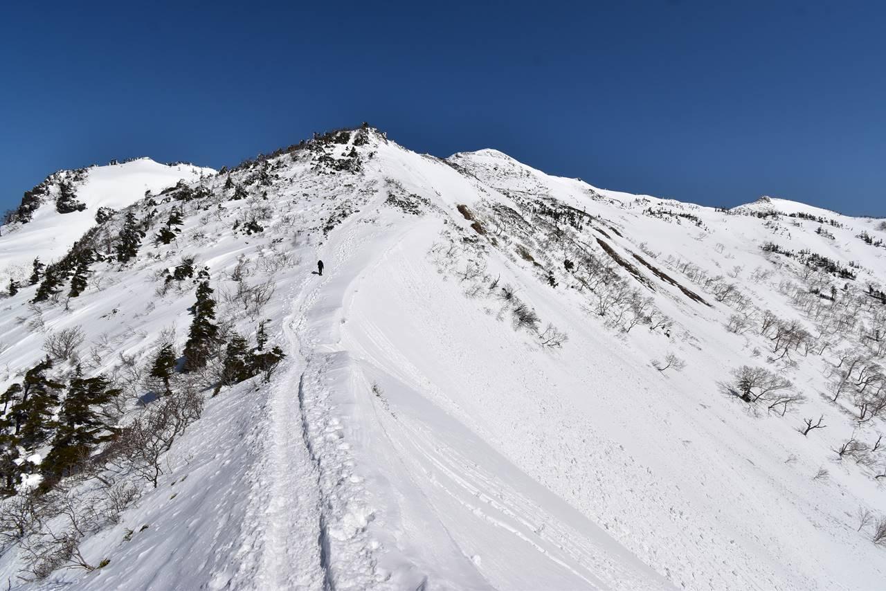 冬の武尊山稜線