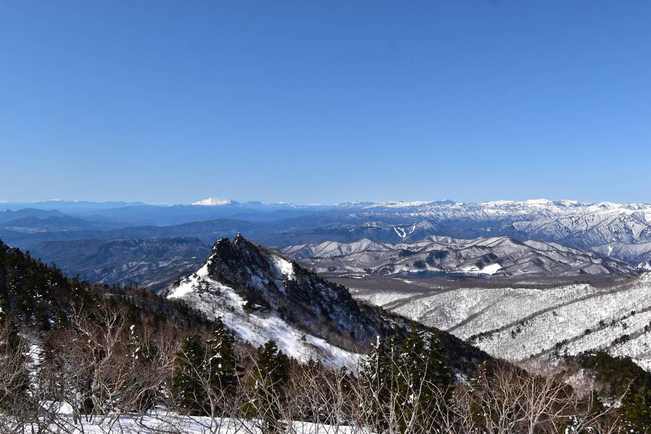 川場スキー場から眺める浅間山
