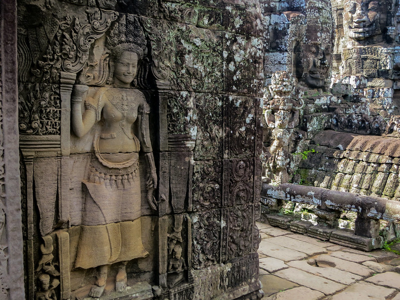More Smiling faces of  Angkor Thom