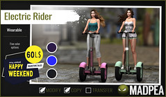 MadPea Electric Rider for Happy Weekend!