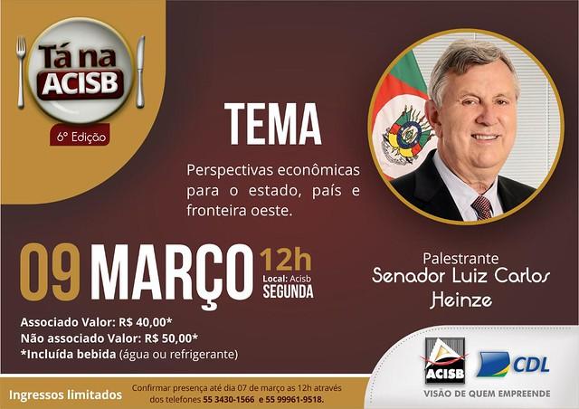 09/03/2020 6° edição Tá na ACISB - São Borja