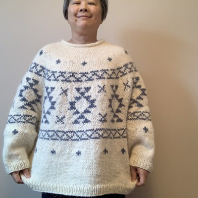 Well I finished my Rug by Junko Okamoto! Oversized and cozy,? I know I will live wearing it!