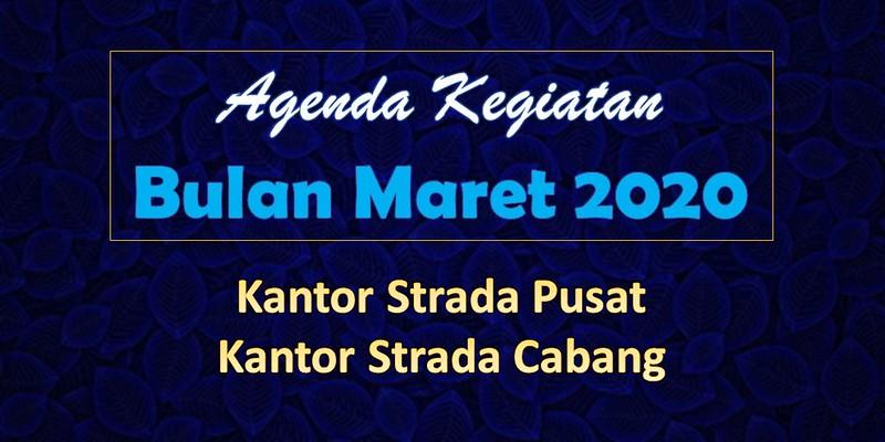 Agenda Kegiatan KSP dan KSC Bulan Maret 2020