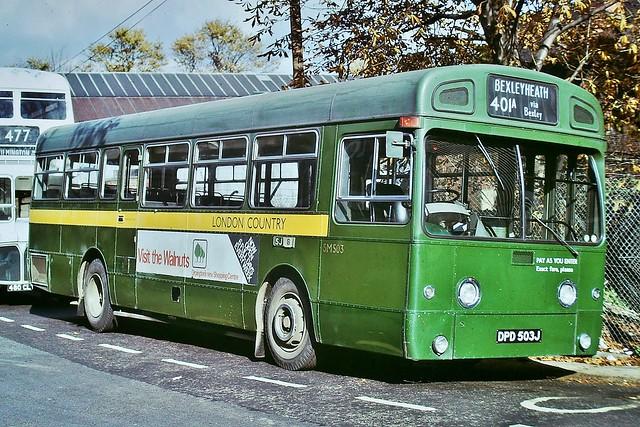 SM503 DPD503J  --- Dartford 19-10-74 *