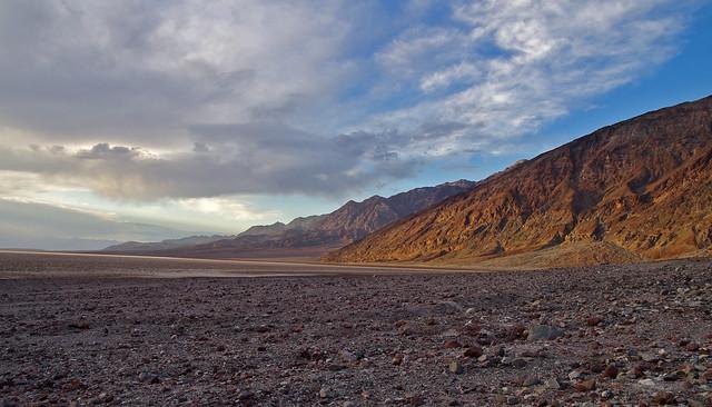 Evening light. Death Valley National Park.  California, USA.