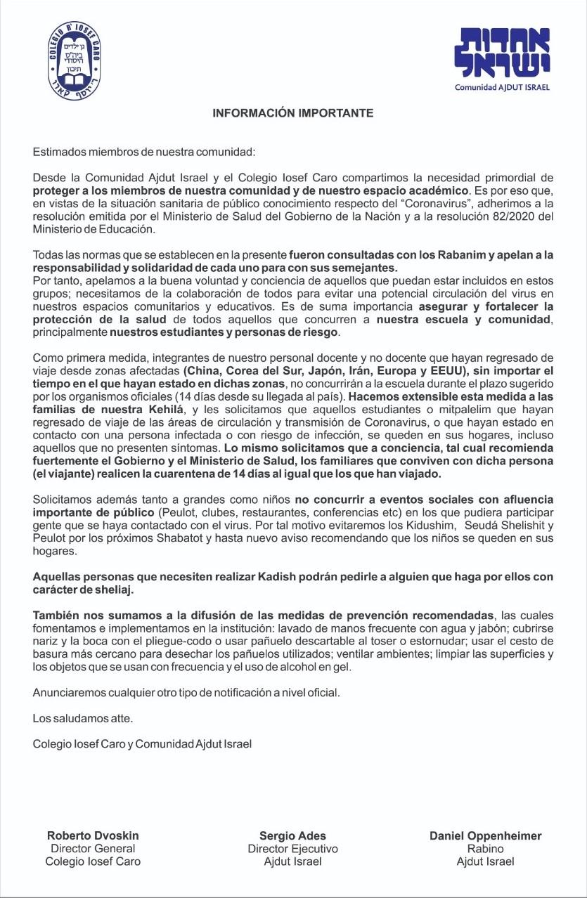 Coronoavirus: Que dicen las distintas instituciones y comunidades