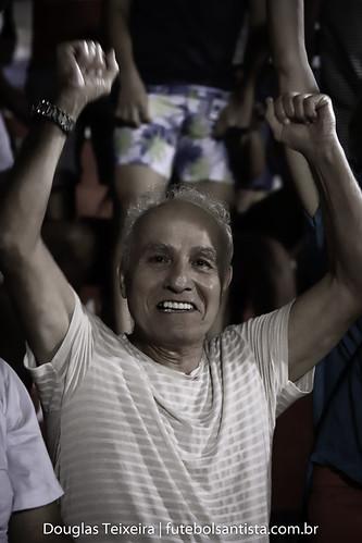 Samarone, autor do gol que deu o título do Campeonato Paulista da Divisão de Acesso de 1964 à Briosa, acompanha a partida entre a rubro-verde diante do Red Bull, válida pelo Paulistão A2 de 2020, disputada no dia 11 de março, no estádio Ulrico Mursa