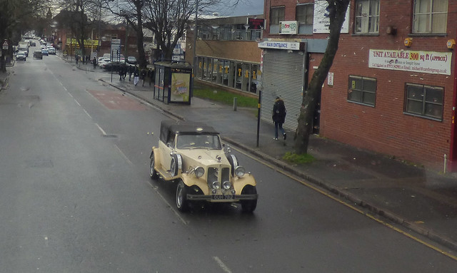 Wedding car spotted on the Moseley Road between Balsall Heath and Highgate