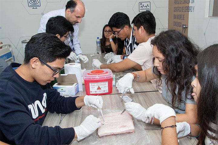 Carrera de Medicina Humana de USIL realizó un taller de sutura