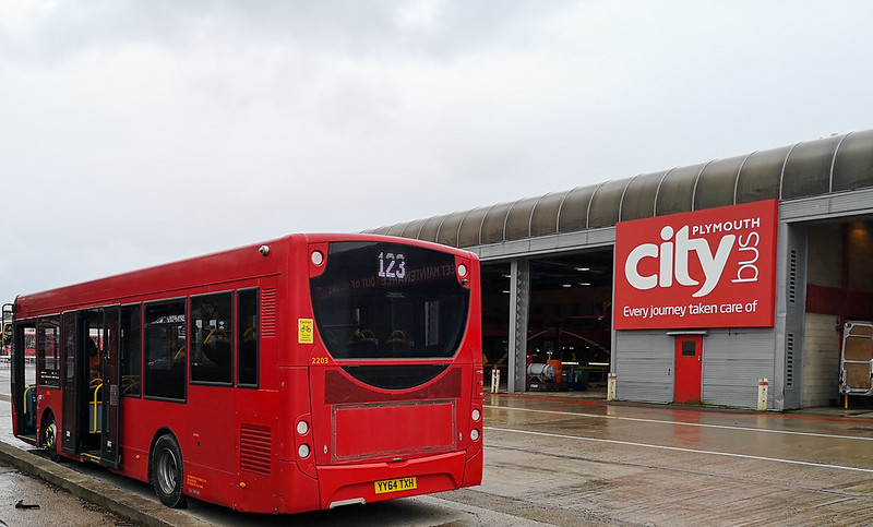 Plymouth Citybus 2203 YY64TXH