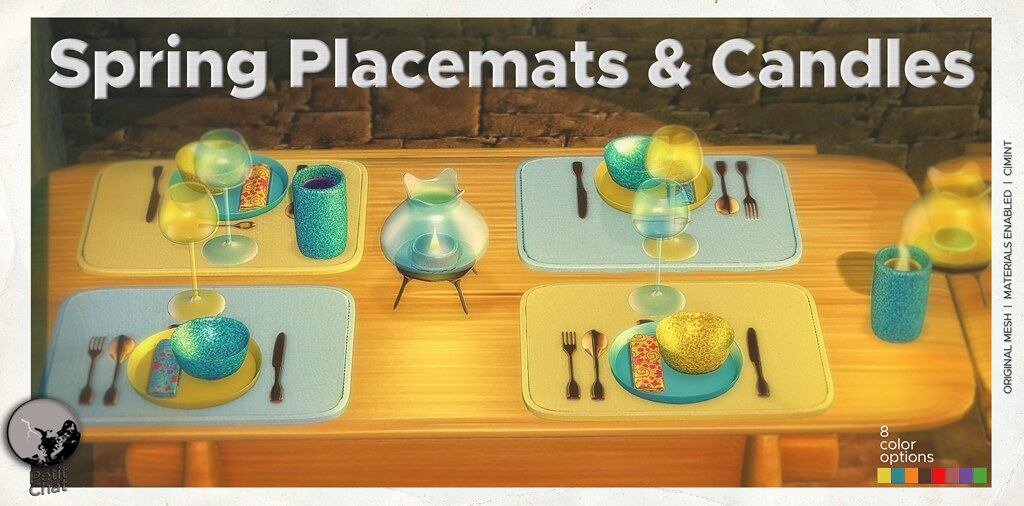 Mainstore release : Spring Placemats & Candles