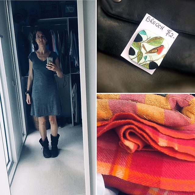 063/366 • …my one full day in Melbourne - feeling like a zombie, op-shopping like a boss! A 100% merino #macpac dress I tried on a few months back had still not been claimed and was half price! $4  #frugalfashion - oh, people who know me well are aware of