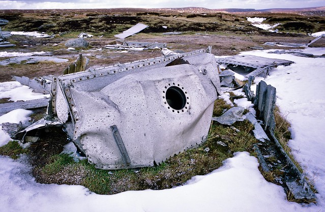 Crash Wreckage of 'Over Exposed' Flying Super Fortress 1948