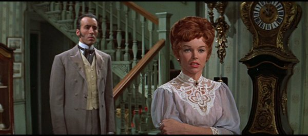 Christopher Lee et Dawn Addams dans le film Les deux visages du docteur Jekyll (Terence Fisher, 1960)