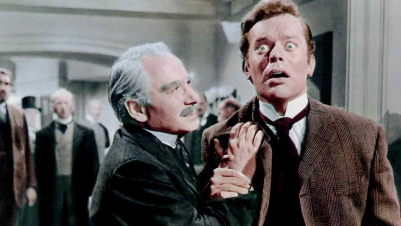 David Kossoff et Paul Massie dans le film Les Deux visages du docteur Jekyll (Terence Fisher, 1960)