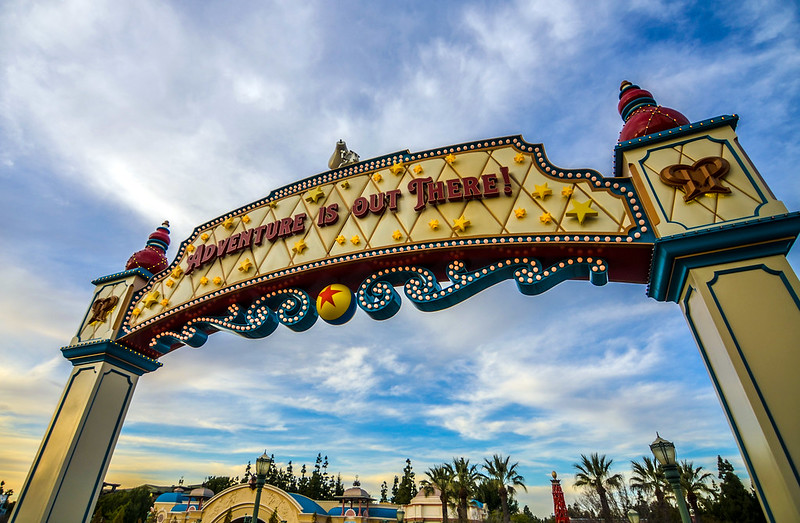 Adventure is out there sign DCA Pixar Pier
