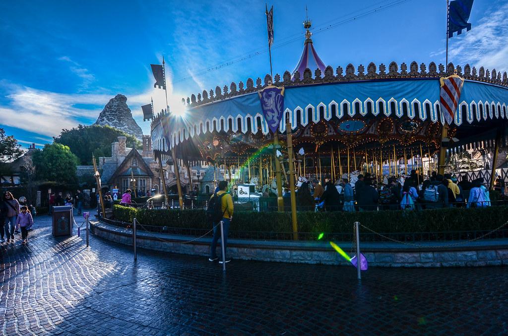 Carousel Matterhorn DL Fantasyland sun